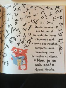 Page intérieure de l'album En fait je n'aime plus les livres